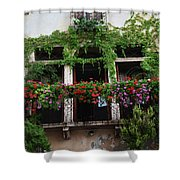 Italy Veneto Marostica Main Square Shower Curtain