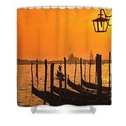 Italy Venice Riva Degli Schiavoni , Canale Grande Riva Degli Sch Shower Curtain