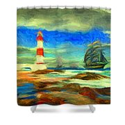Itapua Lighthouse 1 Shower Curtain