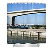 Itchen Bridge Southampton Shower Curtain