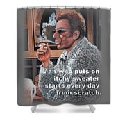 Itchy Sweater Shower Curtain