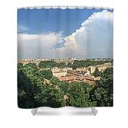 Iter Romam Via Ianiculum Shower Curtain