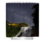 Ithaca Falls By Moonlight Shower Curtain