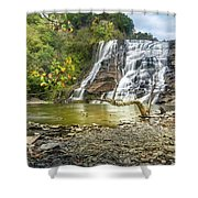 Ithaca Falls In Early Autumn Shower Curtain