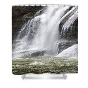 Ithaca Falls On Fall Creek - Mountain Showers Shower Curtain by Christina Rollo