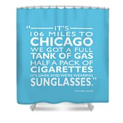 Its 106 Miles To Chicago Shower Curtain