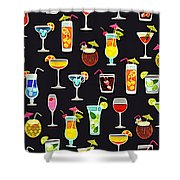 Its 5  Oclock Somewhere Cocktails Shower Curtain