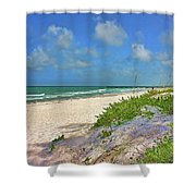 It's A Beach Kind Of Morning Shower Curtain