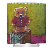 It's A Bear's World Shower Curtain