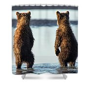It's A Big World Out There Shower Curtain