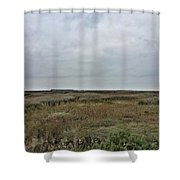It's A Grey Day In North Norfolk Today Shower Curtain by John Edwards