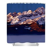Its A New Day First Light Sawtooth Range Shower Curtain