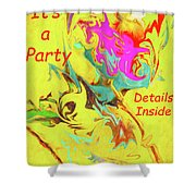 It's A Party Abstract Shower Curtain