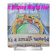 It's A Small World Poster Art Shower Curtain