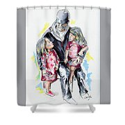 It's All About Love Shower Curtain