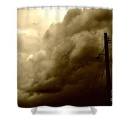 It's Coming Shower Curtain