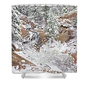 It's Mid May. We're Fast Approaching The End Of Our Snow Season.  Shower Curtain