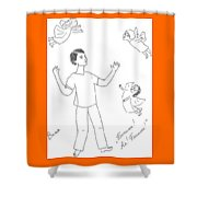 Ivan And A Goddesses. Shower Curtain