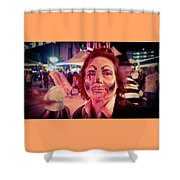 Zombie On Patrol Shower Curtain