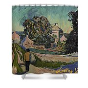 I've Decided To Retrace The Path That Vincent Took With His Easel That Day Shower Curtain