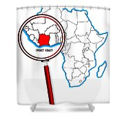 Ivory Coast Under A Magnifying Glass Shower Curtain