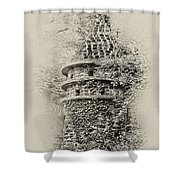 Ivy Covered Castle In The Woods Shower Curtain