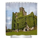 Ivy Covered Ruined Castle Ireland Shower Curtain