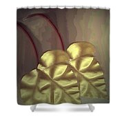 Ivy Heart Shower Curtain