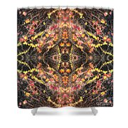 Ivy's In Black Shower Curtain