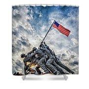 Iwo Jima Memorial Shower Curtain by Susan Candelario