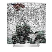 Iwo Jima War Mosaic Shower Curtain