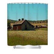 J D Barn Shower Curtain