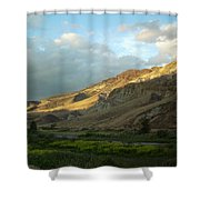 J D Sunset Shower Curtain
