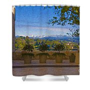 J Paul Getty Center Museum Terrace Shower Curtain