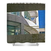J. Paul Getty Museum Abstract View Shower Curtain