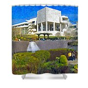 J. Paul Getty Museum Central Garden Panorama Shower Curtain