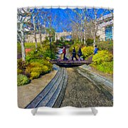 J Paul Getty Museum Garden Terrace Shower Curtain
