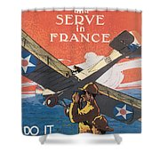 Join The Air Service Shower Curtain