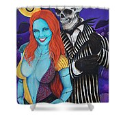 Jack And Sally Shower Curtain