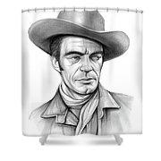 Cowboy Jack Elam Shower Curtain