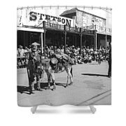 Jack Hendrickson With Pet Burro Number 2 Helldorado Days Parade Tombstone Arizona 1980 Shower Curtain