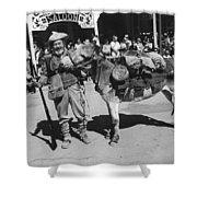 Jack Hendrickson With Pet Burro Number 3 Helldorado Days Parade Tombstone Arizona 1980 Shower Curtain