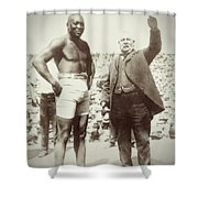 Jack Johnson - Heavyweight Boxing Champion  1908 - 1915 Shower Curtain