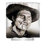 Jack Palance, Vintage Actor Shower Curtain