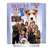 Jack Russell Terrier Art Canvas Print - Best In Show Movie Poster Shower Curtain