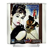 Jack Russell Terrier Art Canvas Print - Breakfast At Tiffany Movie Poster Shower Curtain