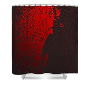 Jack The Ripper In Red Light Shower Curtain