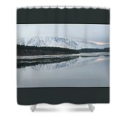 Jackson Lake Ice Shower Curtain