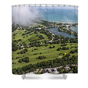 Jackson Park Golf Course In Chicago Aerial Photo Shower Curtain