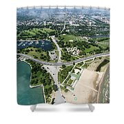 Jackson Park In Chicago Aerial Photo Shower Curtain